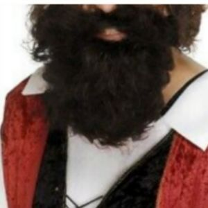 Curly Pirate Beard Black One Size Fits Most